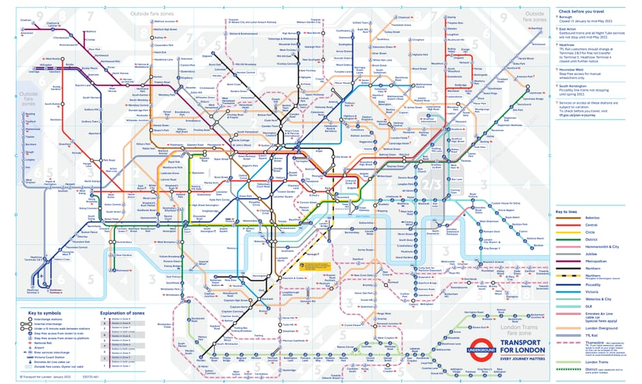Tube Map London - London tube map 2014