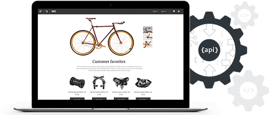 ecommerce site shown on a laptop