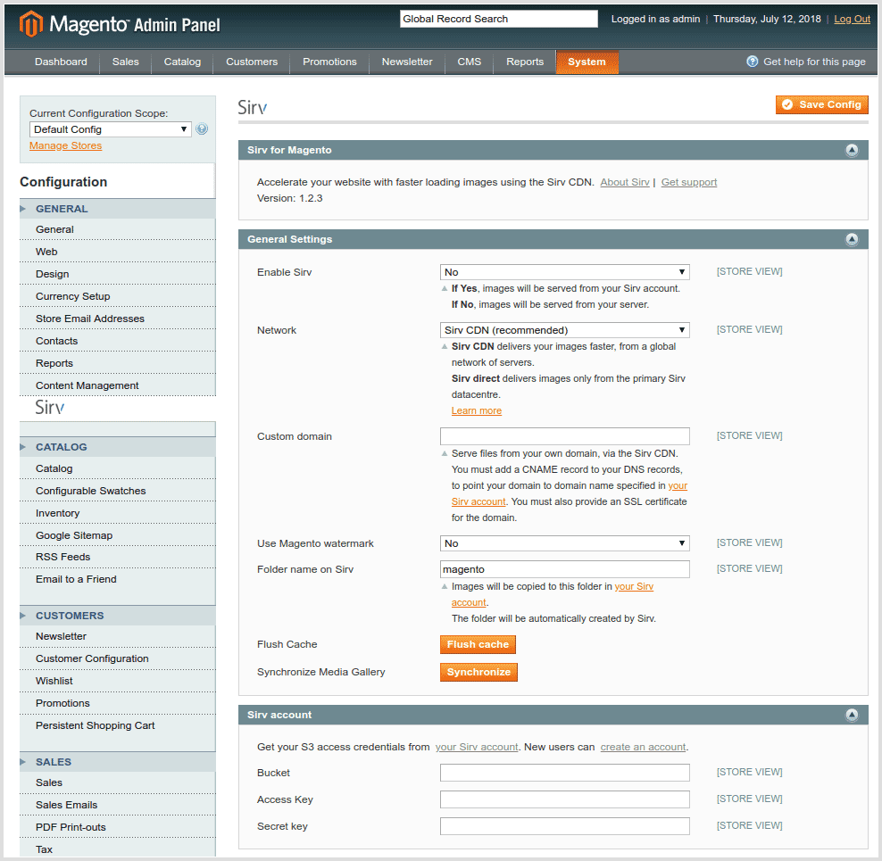 Magento CDN settings for Magento 1