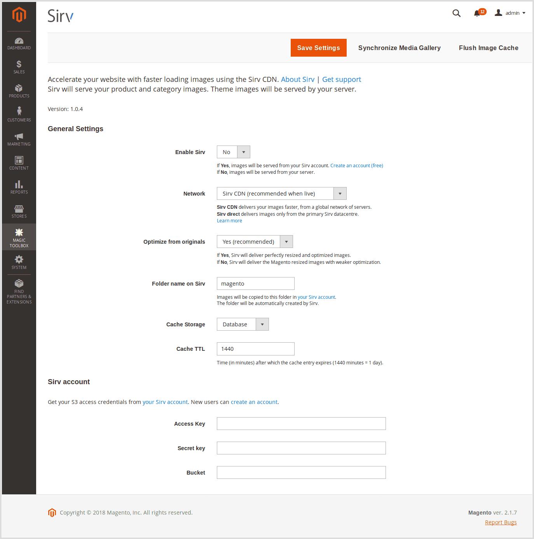 Magento CDN settings for Magento 2
