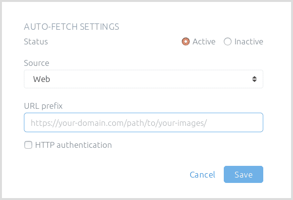 Configure HTTP image fetching