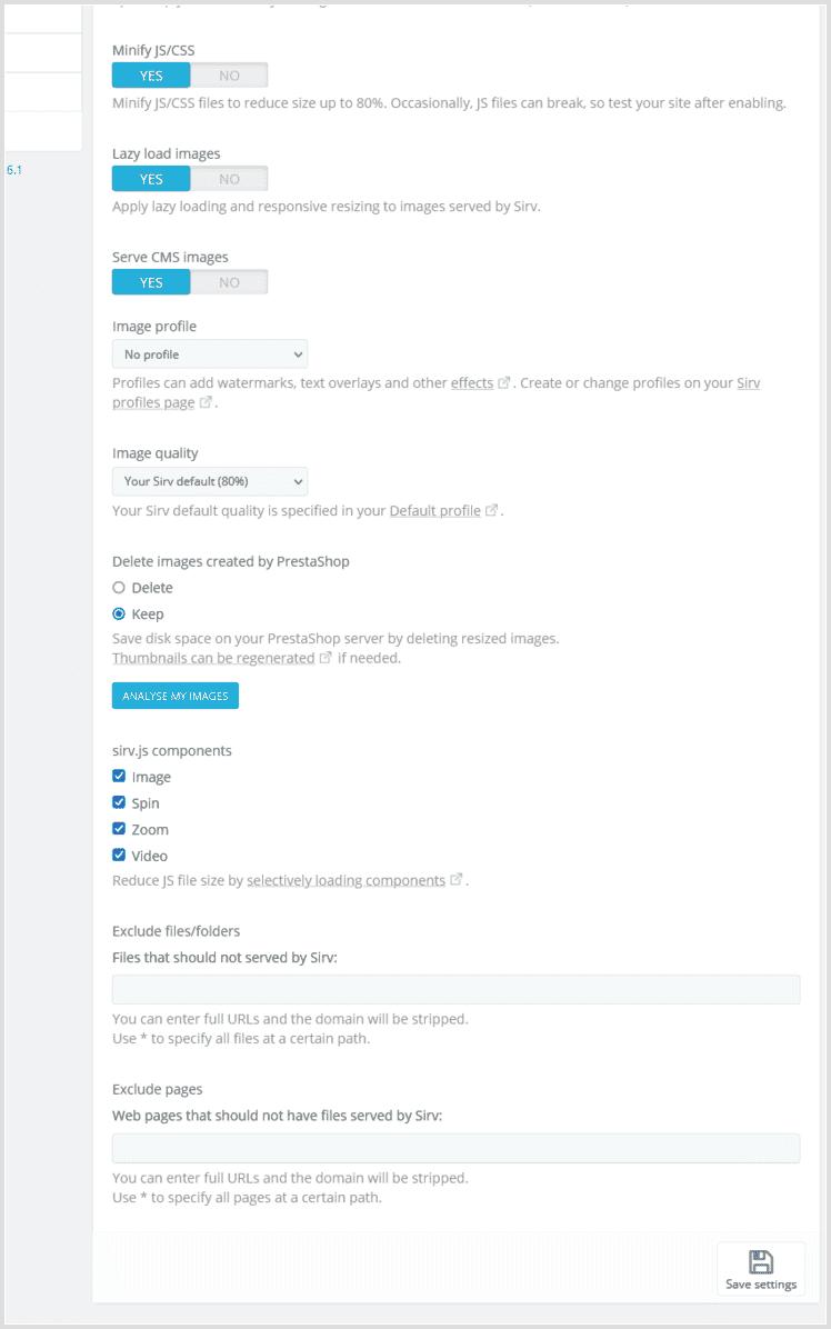 Change your CDN settings