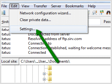 upload images with filezilla sirv support center
