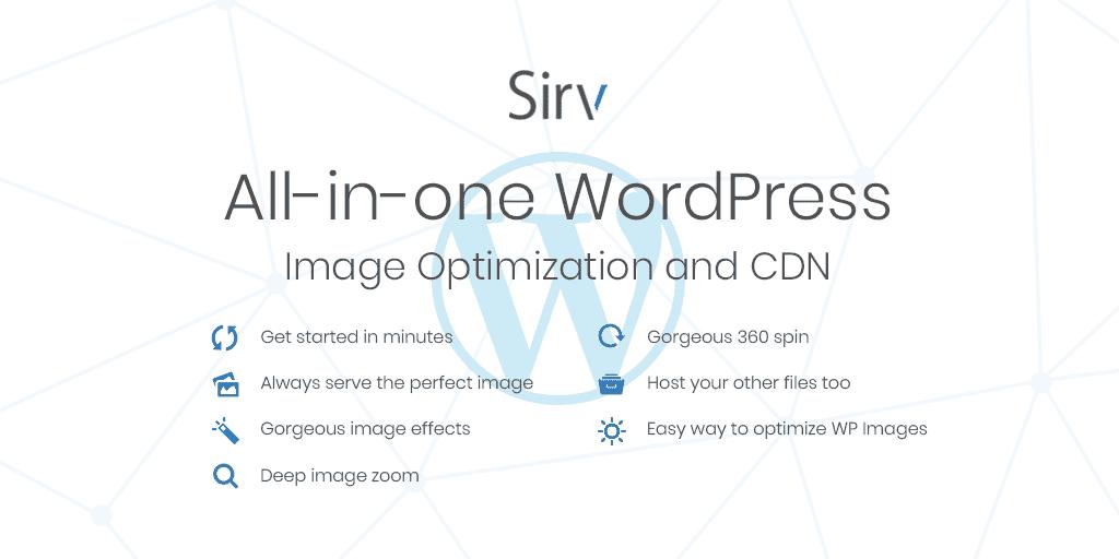 WordPress Image Optimizer & CDN Plugin by Sirv